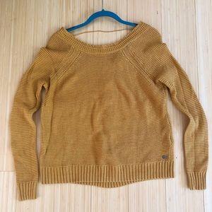 Roxy Lost Coastlines Sweater in honey mustard NWOT